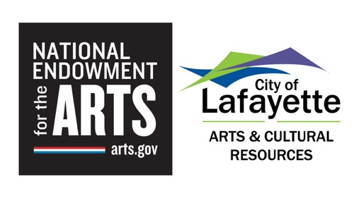 logos of the NEA and Lafayette Arts & Cultural Resources Department